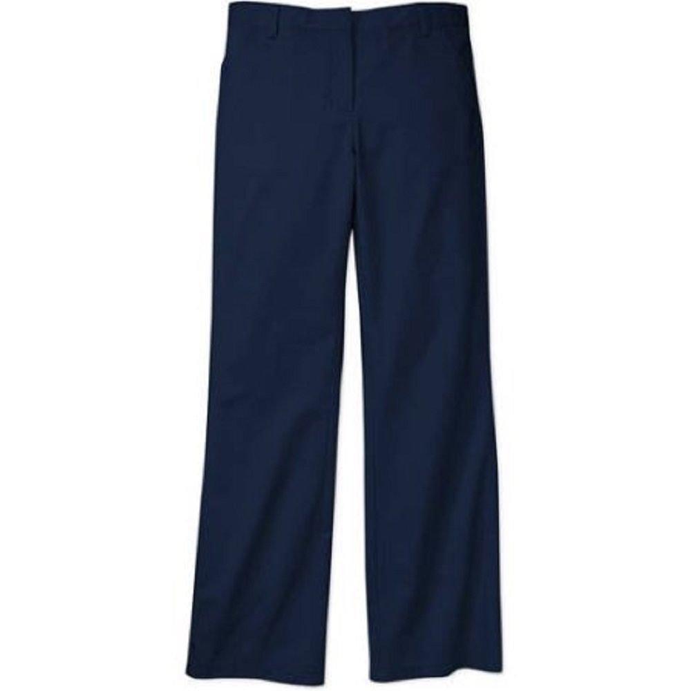 George Girls' School Uniform Flat Front Bootcut Pants, 4, Dark Navy