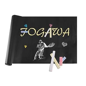FOGAWA Papel Pizarra Adhesiva Negra Vinilo Pizarra Removible ...