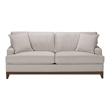 Ethan Allen Arcata Sofa  Quick Ship 81 quot Hailey Natural Amazon com