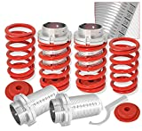 adjustable coil over - Rxmotor Mitsubishi Eclipse Adjustable Lowering Spring Coilover Sleeves Coil Spring over Kit for Sentra Tercel and Corolla (Red)