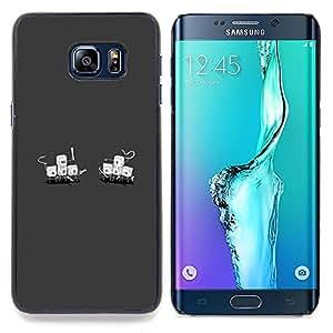 "Planetar ( Polígono Triángulo divertido texto de Orange"" ) Samsung Galaxy S6 Edge Plus / S6 Edge+ G928 Fundas Cover Cubre Hard Case Cover"