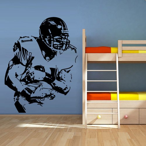 Wall Decal Vinyl Sticker Decals Football Rugby Sport Helmet Man (Z1312)