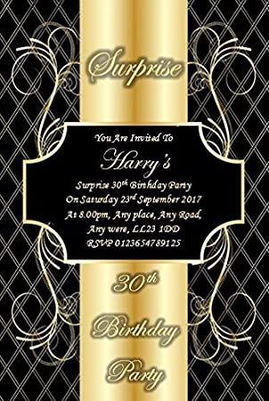 30 Personalised Surprise Birthday Party Invites