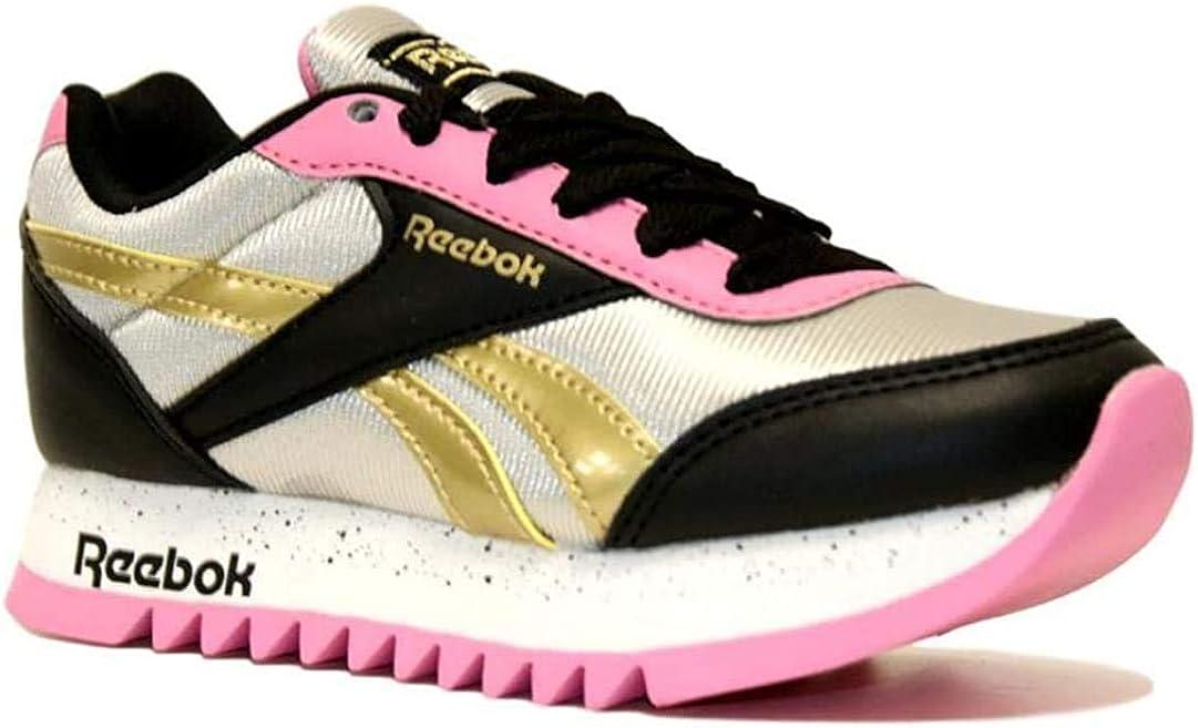 Reebok Royal Cljog 2 Platform, Basket Femme Multicolore Noir Plamet Pospnk