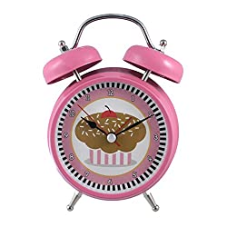 Silent Sweep No Tick Tock Talking Alarm Clock Cupcake