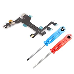 MMOBIEL Power Flex Replacement Compatible with iPhone 5C ON/Off Volume Mute Control Flex Incl. 2 x Screwdrivers