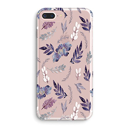 Tropical Aloha Flowers (iPhone 8 Case,iPhone 7 Case,Floral Flowers Girls Tropical Aloha Cute Purple Plants Leaves Succulents Cactus Indoor Plant Summer Beach Spring Vintage Roses Clear Soft Cover Case for iPhone 7/iPhone 8)