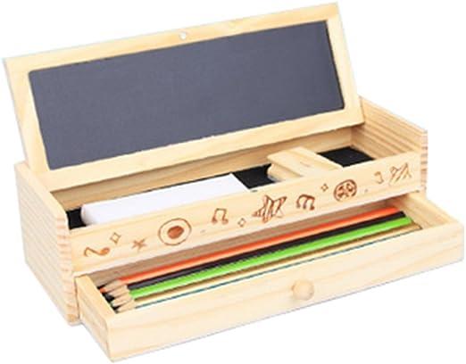 Leisial Caja de Lápices de Madera para Lápices Pluma Artículos de ...
