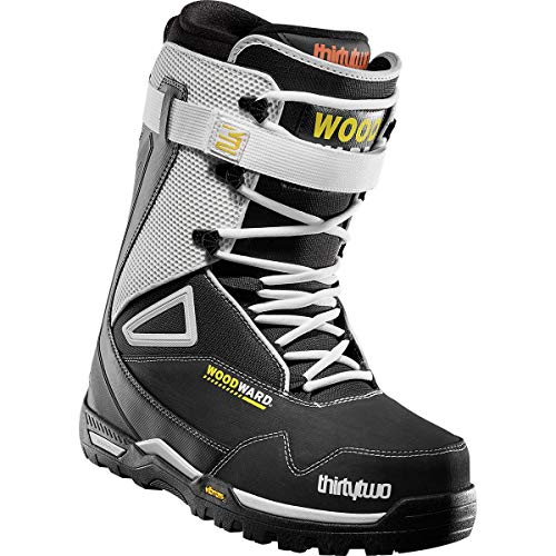 thirtytwo TM-Three Woodward Lace Snowboard Boot - Men's Black/White/Yellow, 10.0