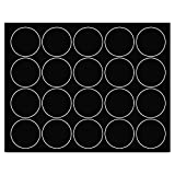 MasterVision FM1605 Interchangeable Magnetic Characters, Circles, Black, 3/4'' Dia, 20/Pack