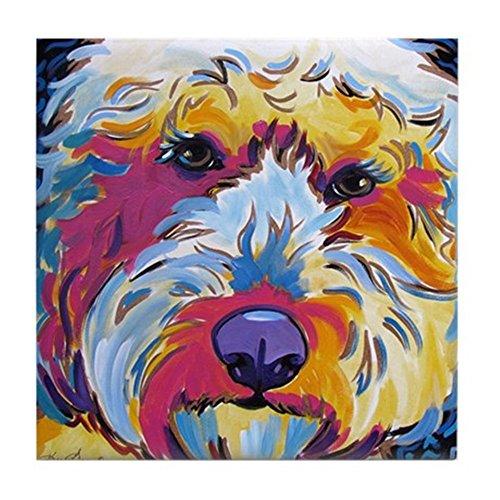 - CafePress - Sunshine The Doodle - Tile Coaster, Drink Coaster, Small Trivet