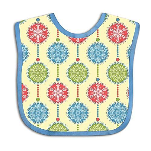 Bandana Snowflakes (Christmas Snowflakes Baby Bandana Drool Bibs, Unisex Gift for Drooling and Teething, Soft and Absorbent)