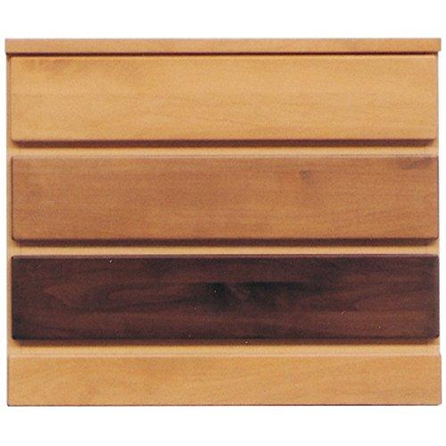 3段チェスト [幅60cm] 木製(天然木) 日本製 ナチュラル [LOVE]ラブ [完成品] B077Q9HZTS
