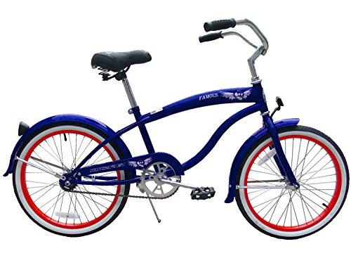 Micargi Famous for Boy Blue Beach Cruiser Bike Bicycle, 20 Wheel by Micargi B00BPGWIDA