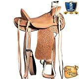 HILASON 13 14 15 16 17 18 in Western Horse Wade Saddle Leather Ranch Roping Tan