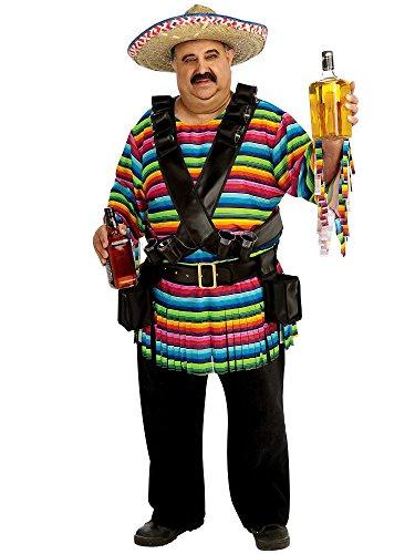 Rubie's Tequila Sunrise Costume, Rainbow Striped, -