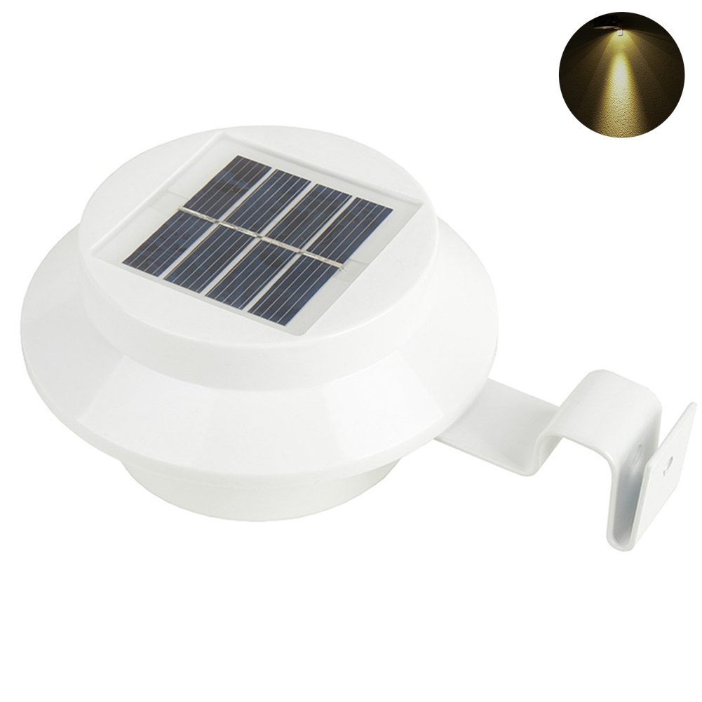 Ayans Solar Gutter Light Outdoor, Solar Powered Garden Light, Waterproof Solar Security Lamps for Garden, Yard,Patio, Fence, Pathway