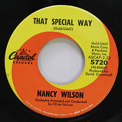 Way Records Rpm 45 (Nancy Wilson 45 RPM That Special Way / Go Away)