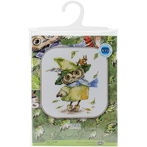 Leaf Fall Counted Cross Stitch Kit-6x6.25 14 Count