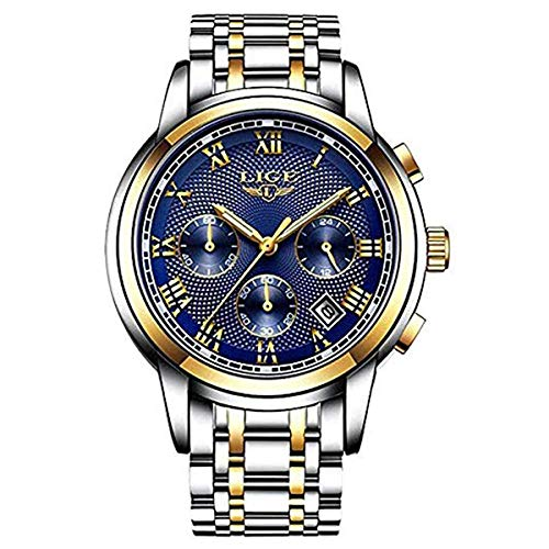 Watches Mens Luxury Steel Band Quartz Analog