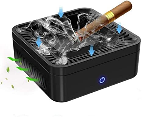 OOCO Purificador De Aire, Cenicero Sin Humo, Se Permite Fumar USB Recargable De Mano Cenicero Humo De Segunda Mano Removedor De Iones Negativos Ambientador: Amazon.es: Deportes y aire libre
