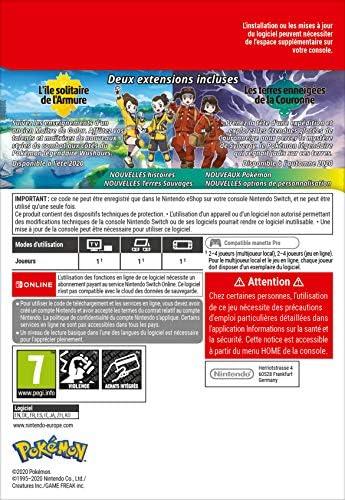 🖱 Pass d'extension pour Pokémon Épée ou Pokémon Bouclier | Nintendo Switch – Code jeu à télécharger | paschersoldes.fr