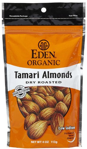 Organic Tamari Almonds 4 Ounces (Case of 15) by Eden