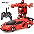 AHIROT RC Car for Kids Transform Car Robot, Deformation Car Model Toy 1:18 Transformation Remote Control Vehicle for Children Perfect for Birthday Gift