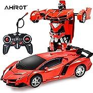 RC Car for Kids Transform Car Robot, Deformation Car Model Toy 1:18 Transformation Remote Control Vehicle for Children
