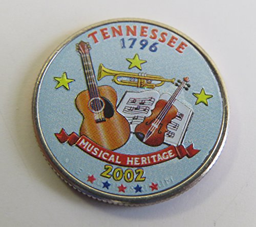 Tennessee State Coin (2002 Various Mint Marks Tennessee State Colorized Quarter Choice Uncirculated)