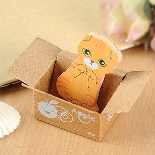 Mini Cute Cartoon Kawaii Katzen und Hunde Notizblock Box Haftnotizen f/ür Kinder Geschenke Post It Note B/ürobedarf 5er Pack
