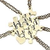 Best Necklaces 6 Pieces - Cherisherre Always Together Never Apart Puzzle Best Friends Review