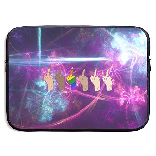 Middle Finger Fuck Laptop Sleeve Case Notebook Bag Protective Cover for 13 Inch Computer]()