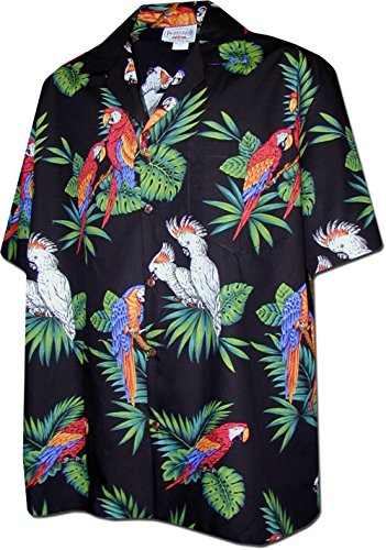 Parrots Hawaiian Shirt, Black ()