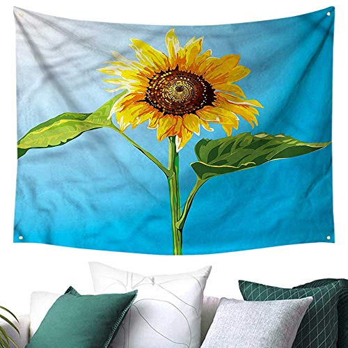 (Sunflower Wall Tapestry Harvest Summer Season 84W x 70L Inch,Home Decorations for Living Room)