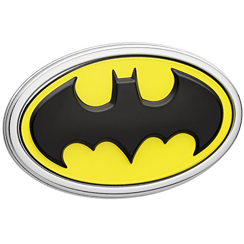 Batman Logo 3D Car Emblem (Black, Yellow, Chrome), DC Comics Automotive Sticker Decal Badge Flexes to Fully Adhere to Cars, Trucks, Motorcycles, Laptops, Almost Anything