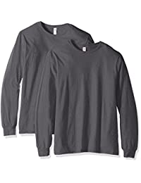 Fruit of the Loom mens Fruit of the Loom Long Sleeve T-shirt (2 Pack)