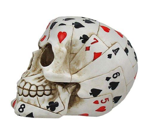 Buy zeckos playing card poker skull figure