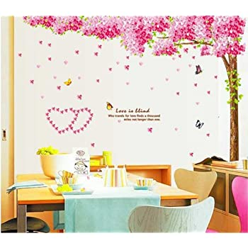 This Item NLC Large Pink Sakura Flower Cherry Blossom Tree Wall Sticker  Decals PVC Removable Wall Decal For Nursery Girls And Boys Childrenu0027s  Bedroom