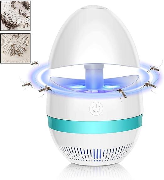 BovoYa - Trampa para Insectos, lámpara Repelente de Mosquitos alimentada por USB, Trampa para Insectos integrada para la Oficina del jardín: Amazon.es: Jardín