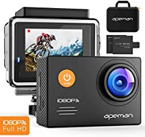 """APEMAN 4K Action Camera WIFI 20MP Waterproof Sports Camera Diving 30M Ultra 170 Adjustable Wide Angle Lens 2"""" LCD Display with Sony Sensor, 2Pcs Rechargeable Batteries, Portable Carrying Bag and Accessories Kits"""