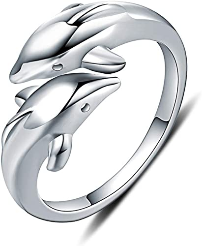 Women White Gold Plated Silver Butterfly Flower Pattern Open Thumb Ring