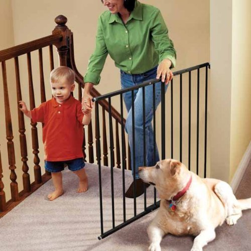 "KidCo Safeway Wall Mounted Pet Gate Black 24.75"" - 43.5"" ..."