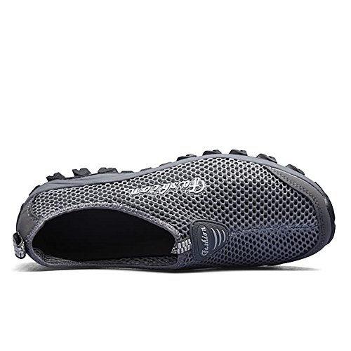 Easy Go Shopping Flat Heel Hollow Fashion Sneaker for Women and Men Cricket Shoes Dark Gray Kd6UD