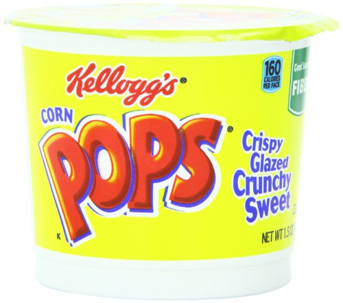 Kellogg's Corn Pops Breakfast Cereal, 1.5 Ounce Single Serve Cup, 6 Cups ()
