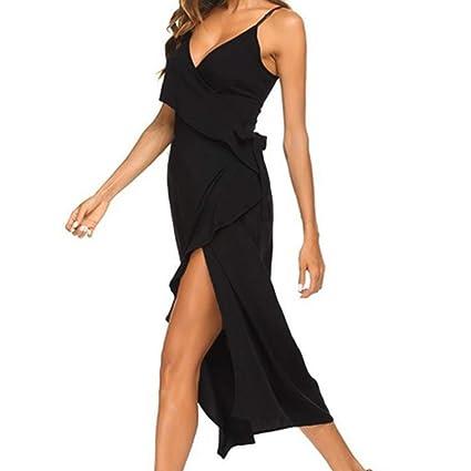 Wave166 Vestido Largo Mujer para Noche y Fiesta Casual Ropa Top ...