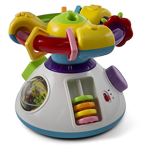 Baby Musical Activity Play Center Cube Rotating Wheel With Projection Light Playing Music Lullaby (Playing Cube)