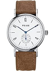 FEICE Automatic Mechanical Mens Watch Chronograph Wrist Watch for men Stainless Steel Leather Watch Bands Casual...
