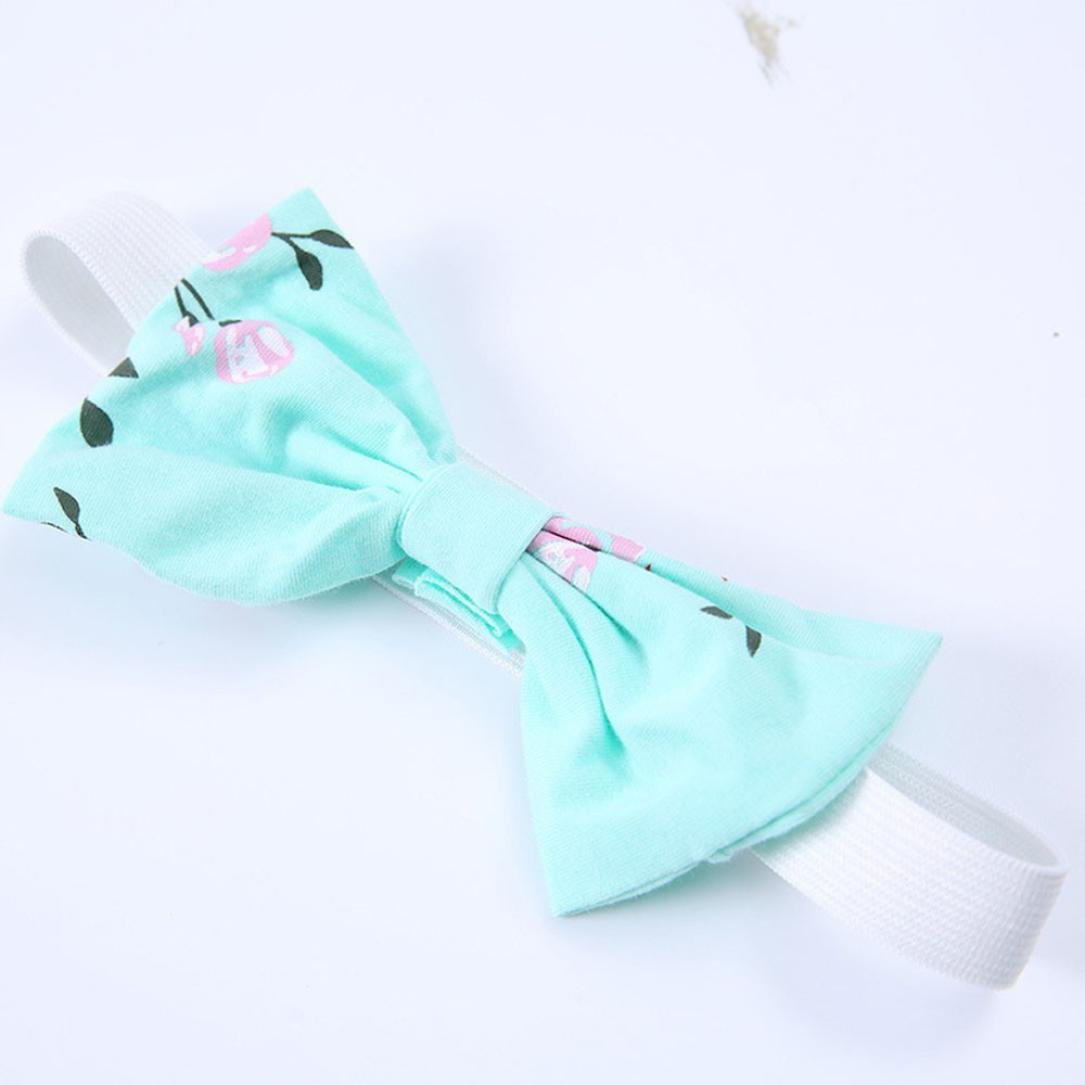Coerni Baby Girl Cute Cotton Romper+Floral Pants+Headband Set of 3