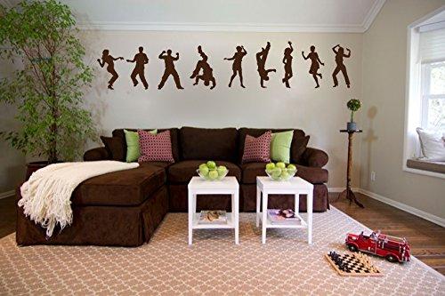 Dancer Silhouettes Vinyl Wall Decal Sticker -
